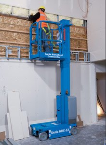 Runabout Contractor Genielift Vertical Mast Lift